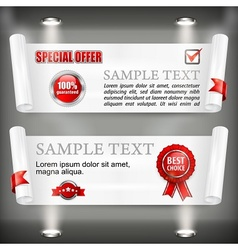 Paper scroll with award sign vector