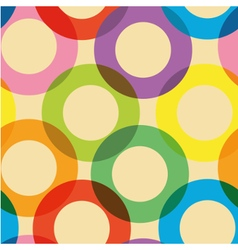 Pattern with colorful circles vector image
