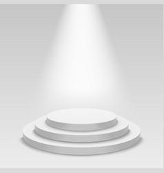 realistic white podium empty stage podium vector image