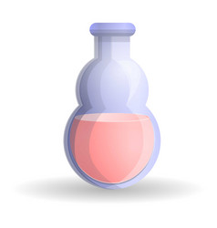 red potion icon cartoon style vector image