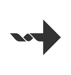Right curved arrow glyph icon direction sign vector