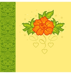 romantic card with flower vector image