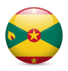 Round glossy icon of grenada vector image