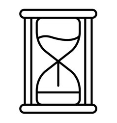 sand hourglass icon outline style vector image