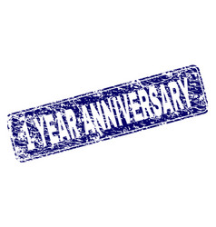 Scratched 1 year anniversary framed rounded vector