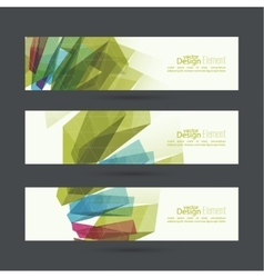 Set of abstract banners header vector image