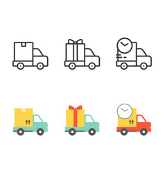 shipping and delivery truck vector image