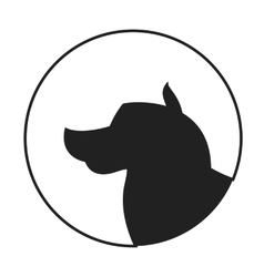 Silhouette of a dog head alaskan malamute vector image