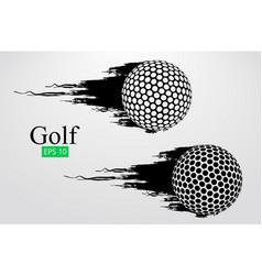 Silhouette of a golf ball vector