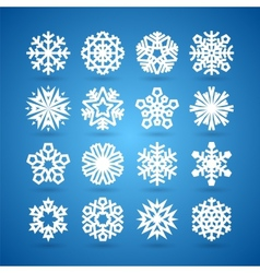 simple flat snowflakes set for winter vector image
