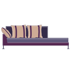sofa icon couch furniture design isolated vector image