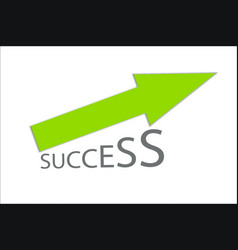 success - growing green arrow chart vector image