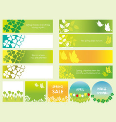 summer cards and banners set vector image