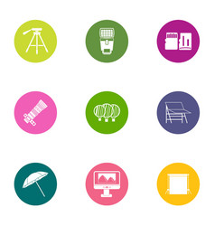 Supervise icons set flat style vector