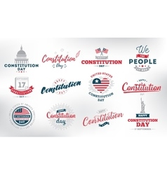 USA constitution day 17 september vector image