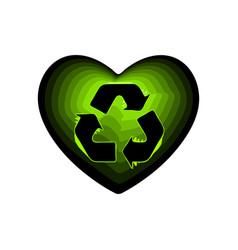 valentine day with the sign of the green arrows vector image