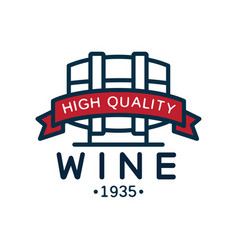 wine label 1935 high quality product logo vector image