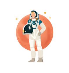 Woman astronaut vector