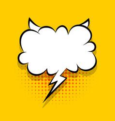 Yellow comics speech bubble for text vector