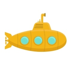 Yellow Submarine with Periscope vector