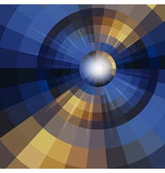 Abstract mosaic circle background vector image vector image
