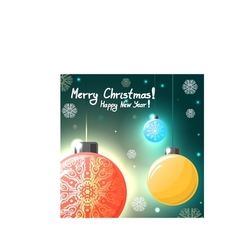 Christmas card with colorful balls eps10 vector image vector image