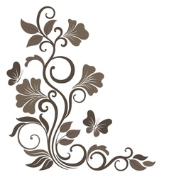 Floral in sepia vector image vector image