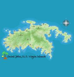 map of st john virgin islands vector image