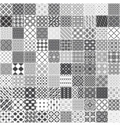 Set of 100 monochrome seamless patterns vector