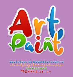 bright logo with text art paint vector image