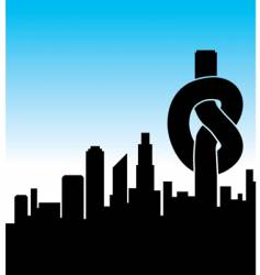 city knot vector image vector image