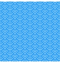 Light blue waves japanese pattern vector image