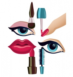 makeup set vector image vector image