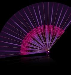 purple fan vector image vector image