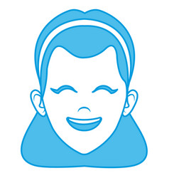 beautiful woman face smiling vector image