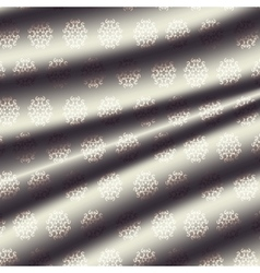 fabric metal light cream-colored curtain with a vector image vector image