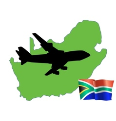 fly me to the South Africa vector image
