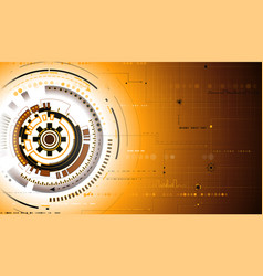 gold tech background vector image vector image