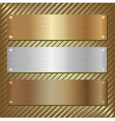 metallic plate vector image
