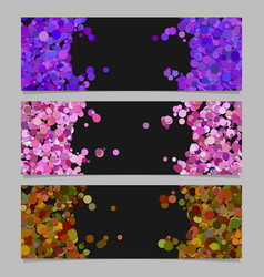abstract banner template set with colored circles vector image vector image