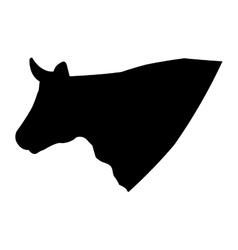 Cow animal farm in the field vector