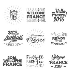 europe football labels soccer 2016 overlays vector image vector image