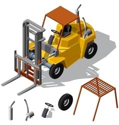 Forklift loader shadowed vector image vector image