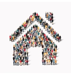 group of people form house vector image