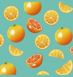 orange fruit fresh seamless pattern design vector image