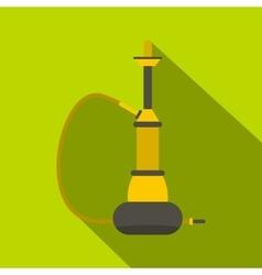 Yellow hookah icon flat style vector image