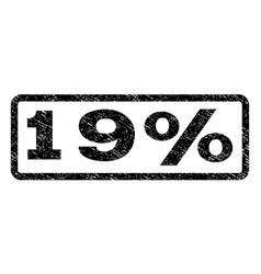 19 percent watermark stamp vector image