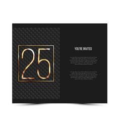 25th anniversary invitation card template vector image