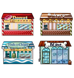 A donut store bakery fish and chips store vector