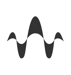 Abstract overlapping waves glyph icon silhouette vector